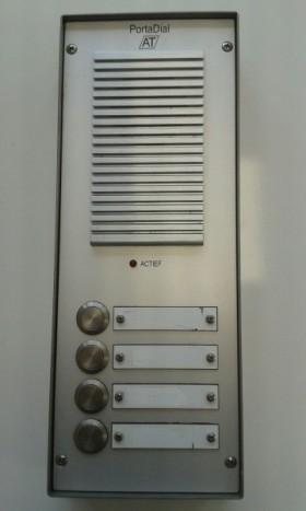 PortaDial deurtelefoon intercom 4 drukknops Type 1B